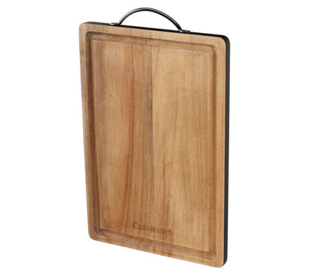 "Cuisinart 15"" Acacia Wood Cutting Board with Black Colorband"