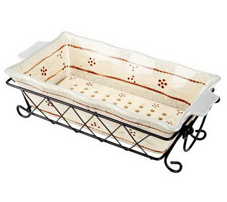 Temp Tations Old World Loaf Pan With Ceramic Drip Tray