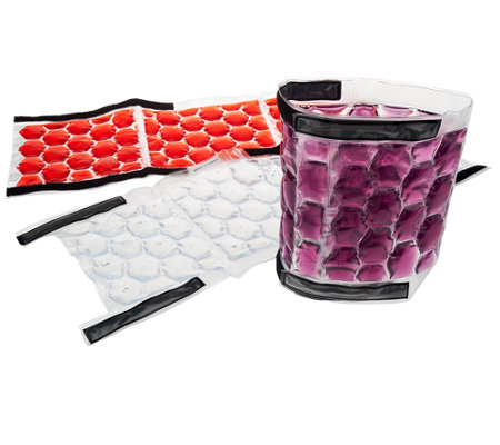 Rove 3-Piece Wine And Beverage Ice Wraps with Velcro