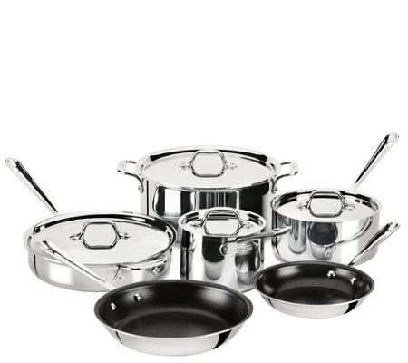 allclad stainless steel 10piece nonstick cookware set
