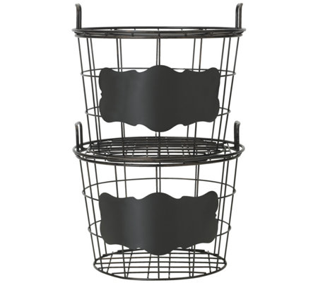 Gourmet Basics by Mikasa Set of 2 This and ThatBaskets