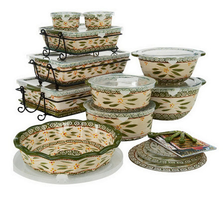 Temp-tations Old World 24-piece Complete Oven- to-Table Set