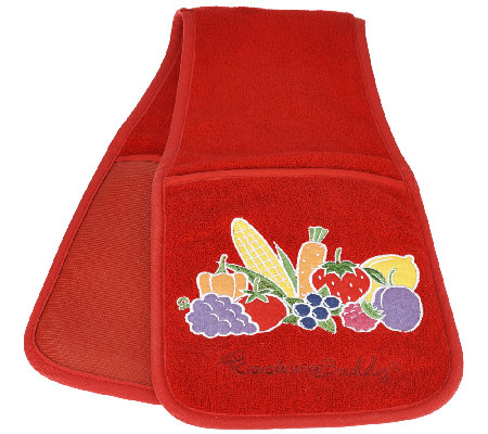 Cooking Buddy Embroidered Towel & Pot Holder by Campanelli