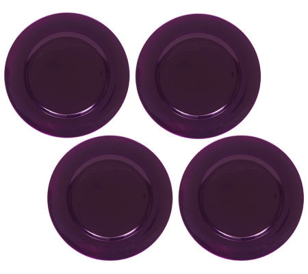 ChargeIt! by Jay Purple Round Charger Plates -Set of 8