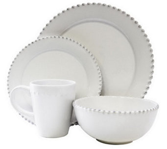 American Atelier Bianca 16-Piece Antique-StyleDinnerware Set - K297732