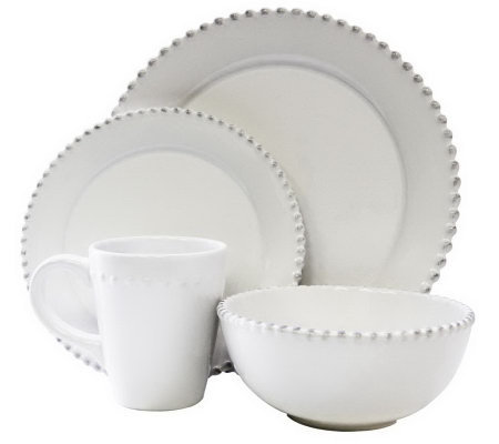 American Atelier Bianca 16-Piece Antique-StyleDinnerware Set