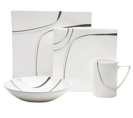 Mikasa Modernist Black 4-Piece Place Setting