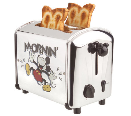 Mickey Mouse Mornin' Musical Stainless Steel 2 Slice Toaster