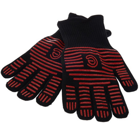 Cook's Essentials Colored High Temp Oven & BBQ Gloves