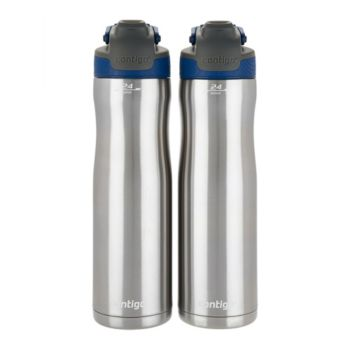 Contigo Set of 2 24oz. Autoseal Chill Stainless Steel Water Bottles