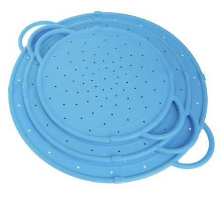 Prepology Set of 3 Silicone Splatter Guards w/Side Handles