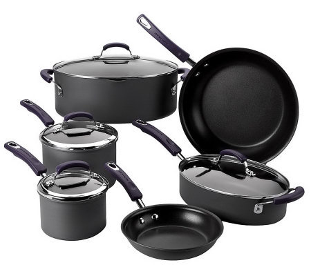 Rachael Ray 10 Piece Hard Anodized Dishwasher Safe