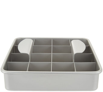 "PushPerfect 8"" Brownie Pan with Slicing Grid - K43634"