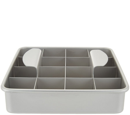 "PushPerfect 8"" Brownie Pan with Slicing Grid"
