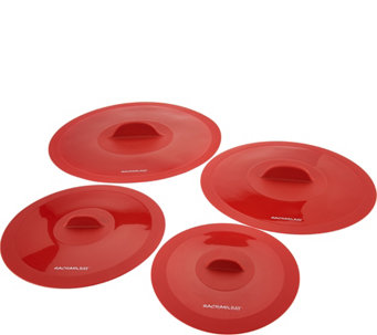 Rachael Ray Set of 4 Silicone Suction Lids - K44634