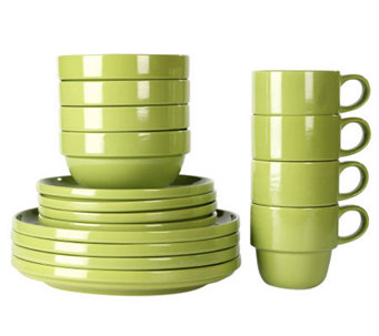 Tabletops Gallery Moss Stax Living 16-Piece Dinnerware Set - K299835