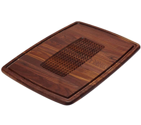 Snow River Pyramid Cut Walnut Wood Carving Board