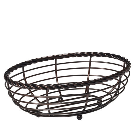 Gourmet Basics by Mikasa Rope Oval Bread Basket