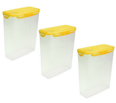 Lock & Lock 3-Piece 18-Cup Cereal Keepers