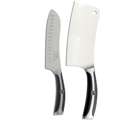 Lenox Forged Series German Steel Cleaver & Santoku Knife Set
