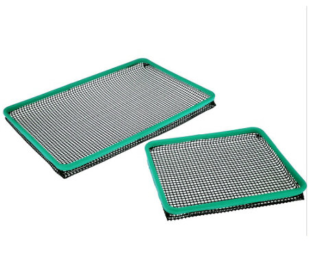 Crisp-Ease Set of 2 Non-Stick Oven Crisper Trays