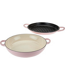 Le Creuset 3.5qt Cast Iron Multi-Function Pan with Grill Lid & Recipes - K44635