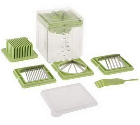 """As Is"" Vidalia Slice-It Compact Slicer with 4 Blades & Cover"