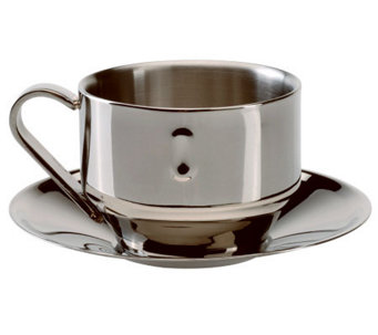 BergHOFF Straight Cappuccino Cup & Saucer - K300236