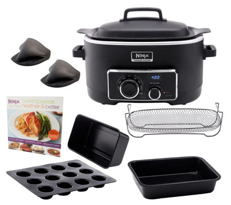 Ninja 3-in-1 6 qt. Nonstick Cooking System with Cookbook and ...