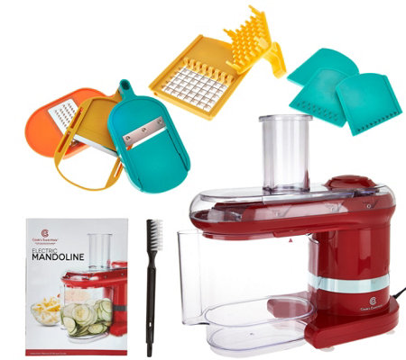 CooksEssentials Electric Mandoline Slicer & Dicer w/ 7 Blades