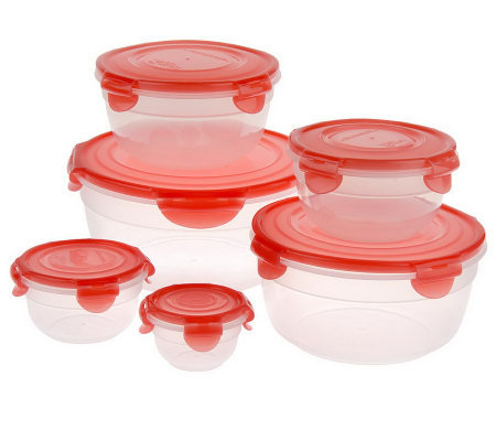 Lock & Lock 6-piece Variety Bowl Storage Set with Color Lids