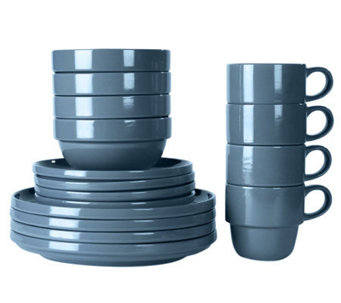 Tabletops Gallery Blue Stax Living 16-Piece Dinnerware Set - K299837