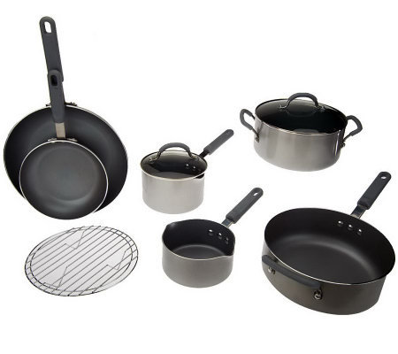 CooksEssentials 9-Piece Cookware Set w/ Color Smart Nonstick