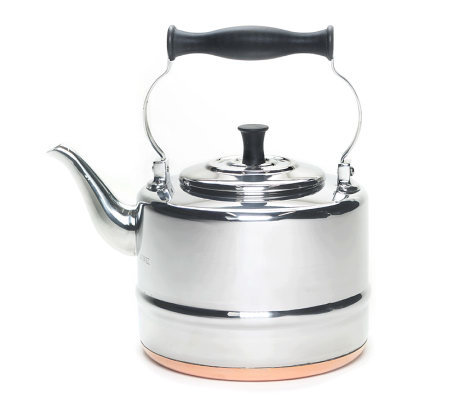 BonJour 2-Qt Stainless Steel Teakettle Copper Bottom