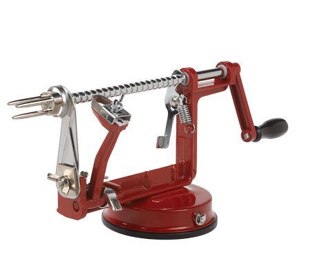 Apple Master Peeler in Red with Slicer and Corer