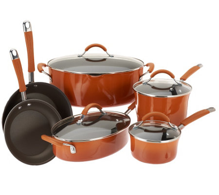Rachael Ray Gradient Rustica 10-Piece Cookware Set