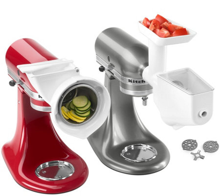 KitchenAid Grinder, Slicer & Strainer Attachment Pack
