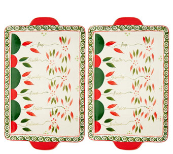 Temp-tations (2) 13x9 Old World Sentiment Cookie Sheets - K42338