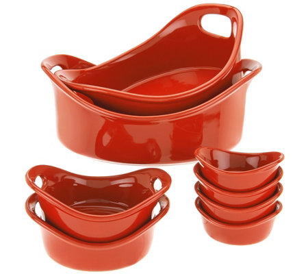Rachael Ray Bubble & Brown 8-piece Round Bakeware Set