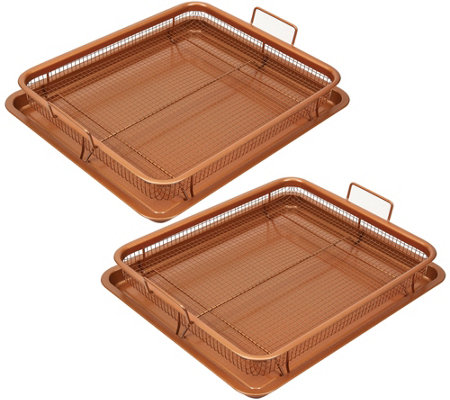 Copper Chef 4-pc Ceramic Nonstick Copper Crisper