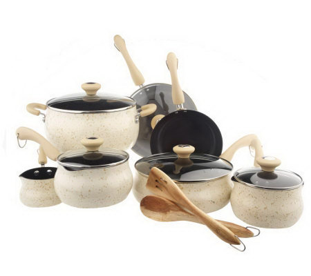 Paula Deen Southern Belle Speckled Enamel 13-pc. Cookware Set
