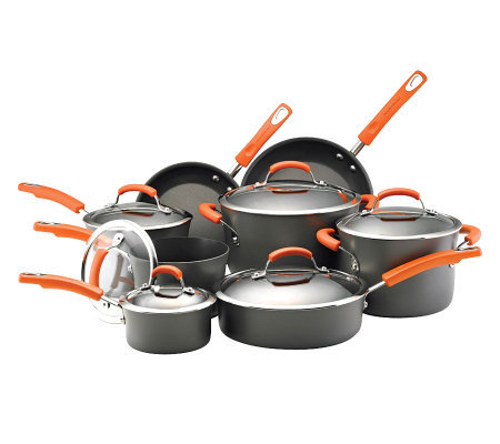Rachael Ray Hard-Anodized Cookware 14-Piece Set