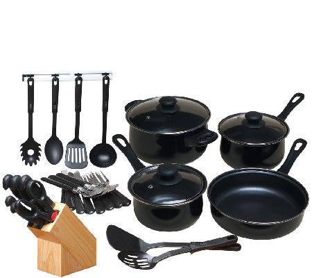 Gibson Home Total Kitchen 32-Piece Nonstick Cookware Set