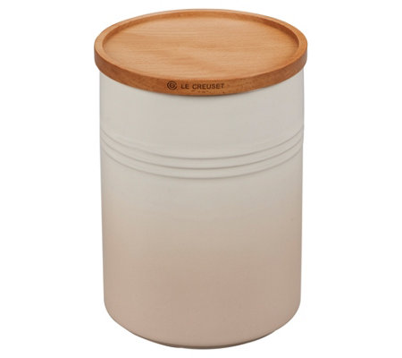 Le Creuset 2.5-qt Canister with Wooden Lid