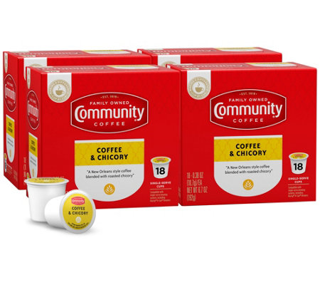 Community Coffee 72-ct Coffee & Chicory Single-Serve Cups