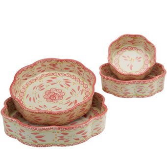 Temp-tations Old World Set of 4 Nested Cake Pans - K41439