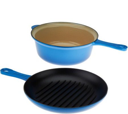 Le Creuset 3.75 qt. Cast Iron 2-in-1 Pan