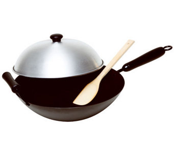 "Asian Origins 14"" Nonstick Wok 4-Piece Set - K301340"