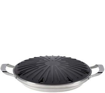 "Circulon Symmetry Hard-Anodized Nonstick 12"" Stovetop Grill - K305940"