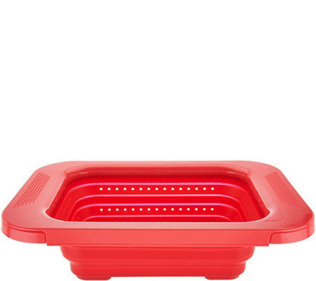 """As Is"" Cook's Essentials 3-in-1 Collapsible Colander"